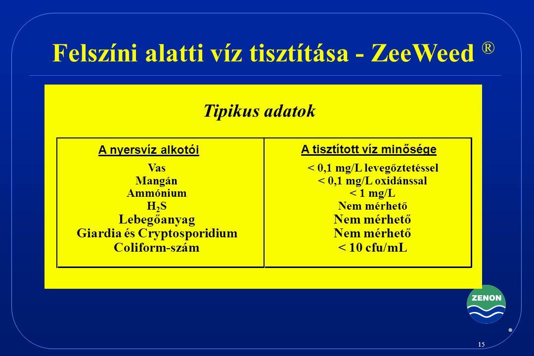 Felszíni alatti víz tisztítása - ZeeWeed ®