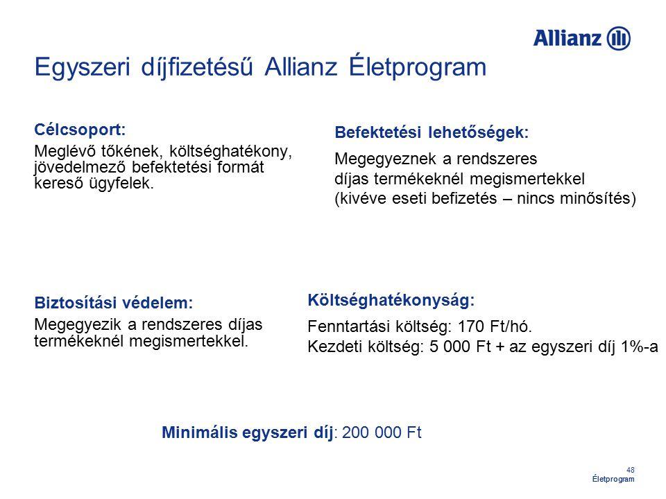 Egyszeri díjfizetésű Allianz Életprogram
