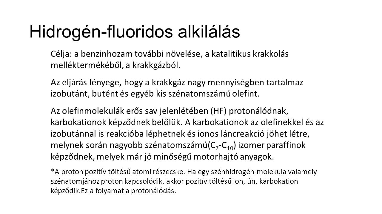 Hidrogén-fluoridos alkilálás