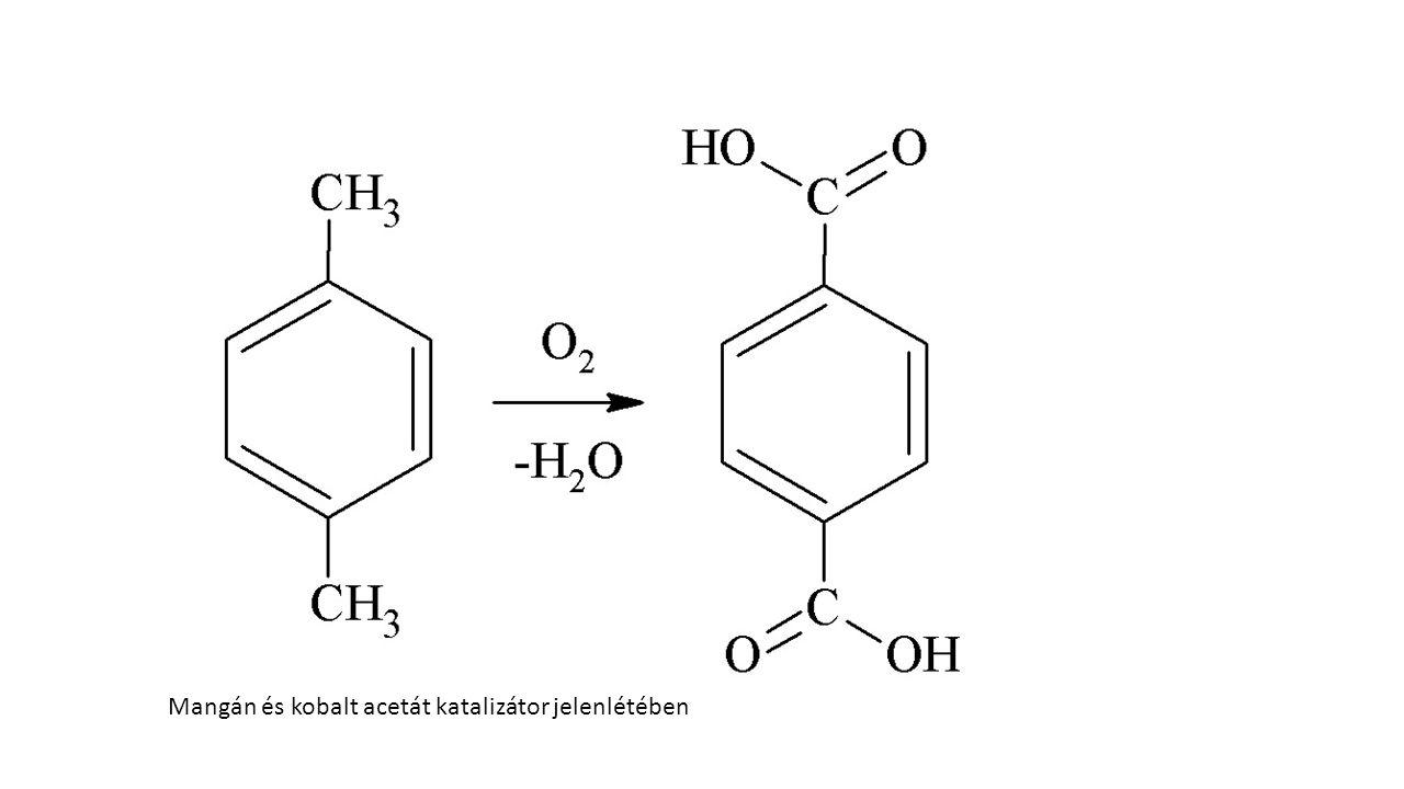 Mangán és kobalt acetát katalizátor jelenlétében