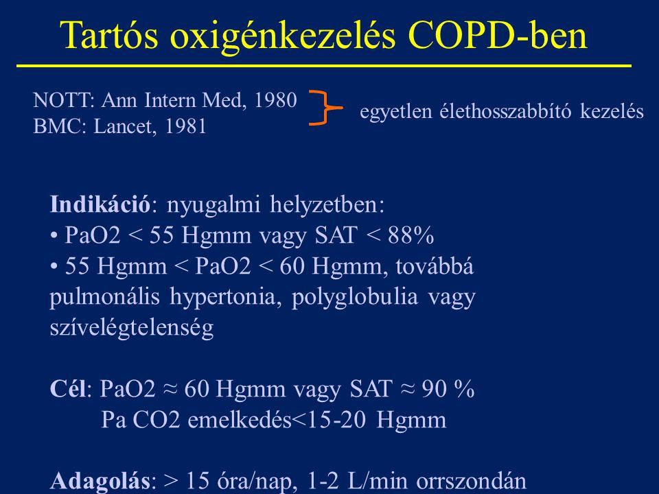 Tartós oxigénkezelés COPD-ben