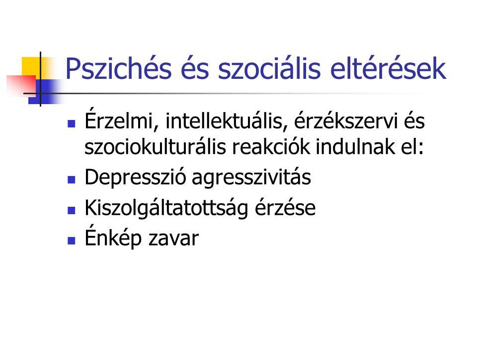 Pszichés és szociális eltérések