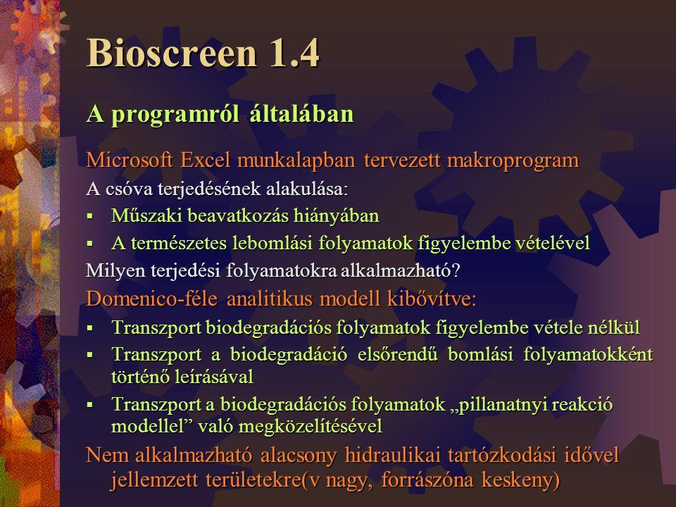 Bioscreen 1.4 A programról általában