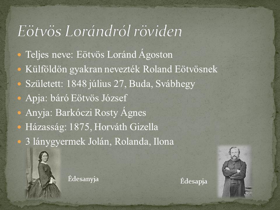 Eötvös Lorándról röviden