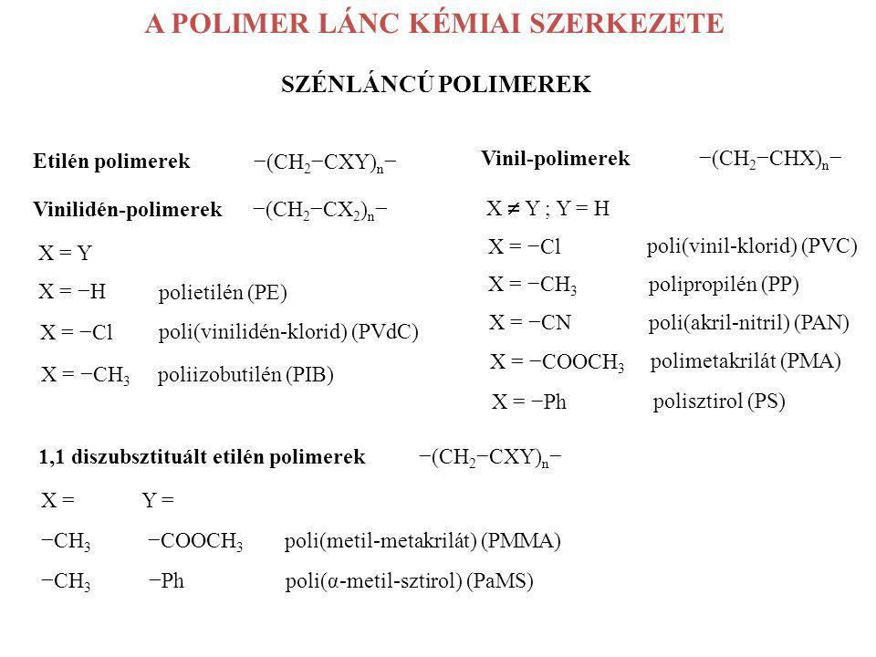 A POLIMER LÁNC KÉMIAI SZERKEZETE