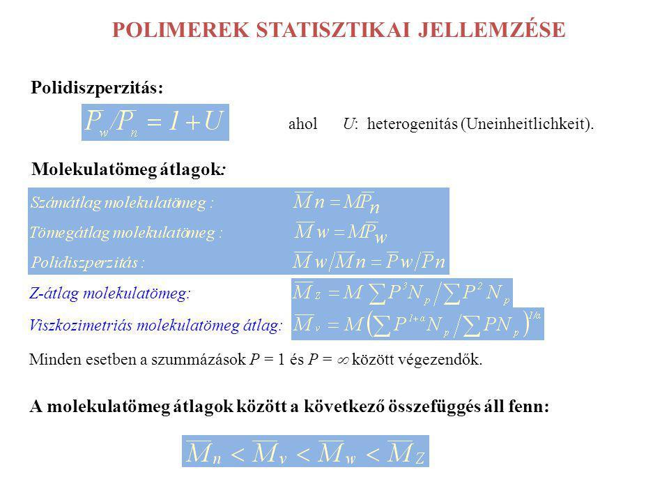 POLIMEREK STATISZTIKAI JELLEMZÉSE