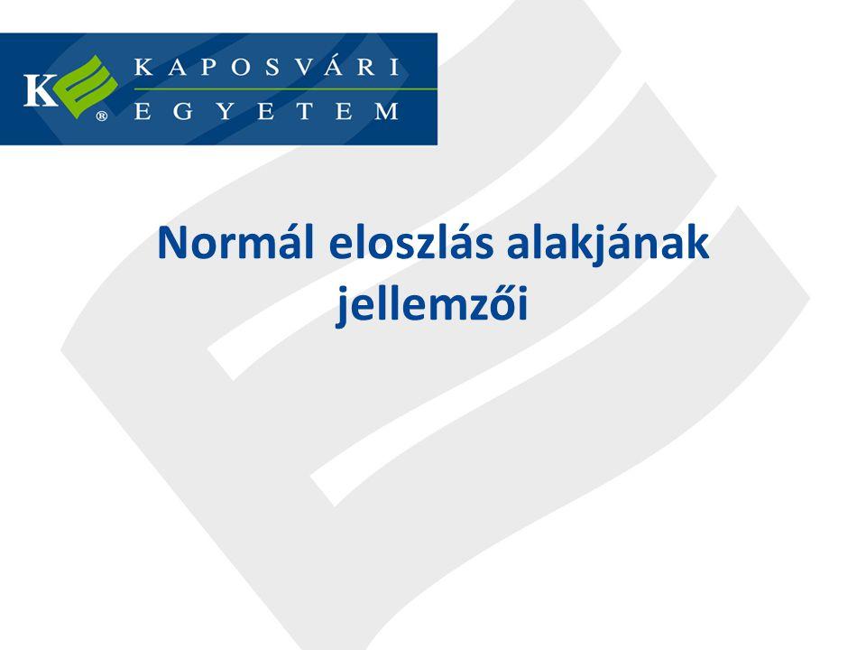 Normál eloszlás alakjának jellemzői