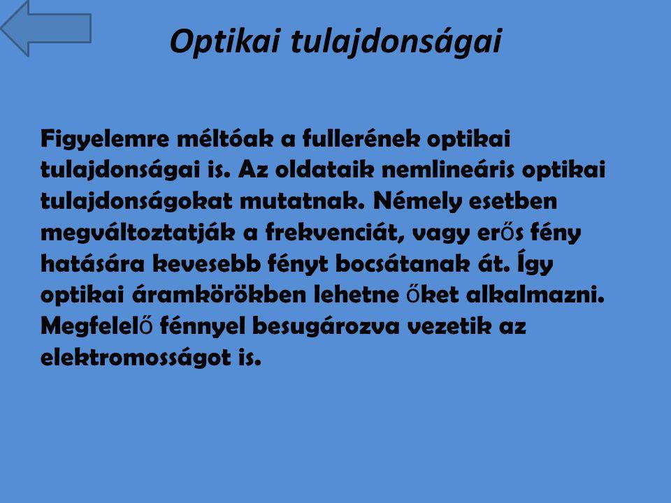 Optikai tulajdonságai