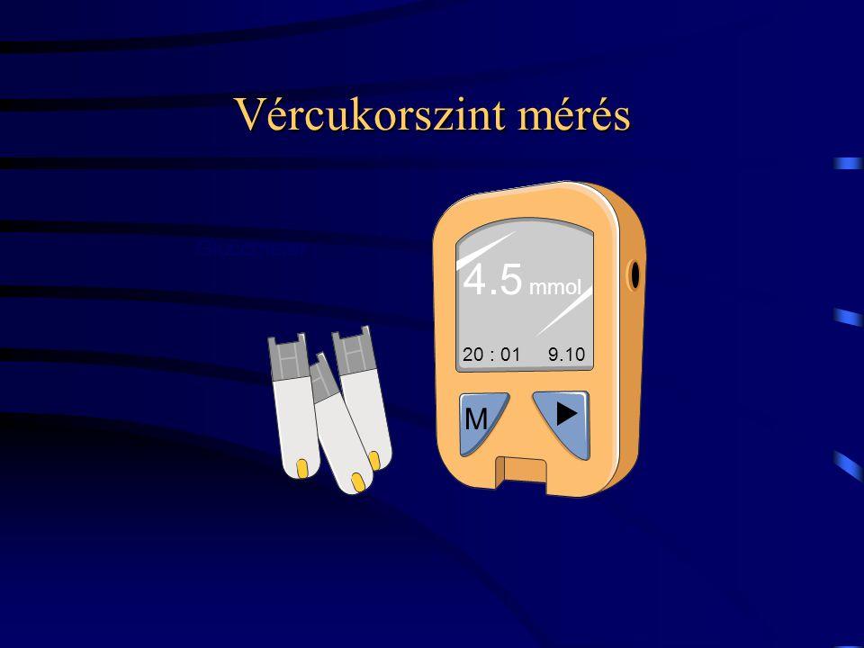 Vércukorszint mérés 20 : 01 9.10 M 4.5 mmol Glucometer