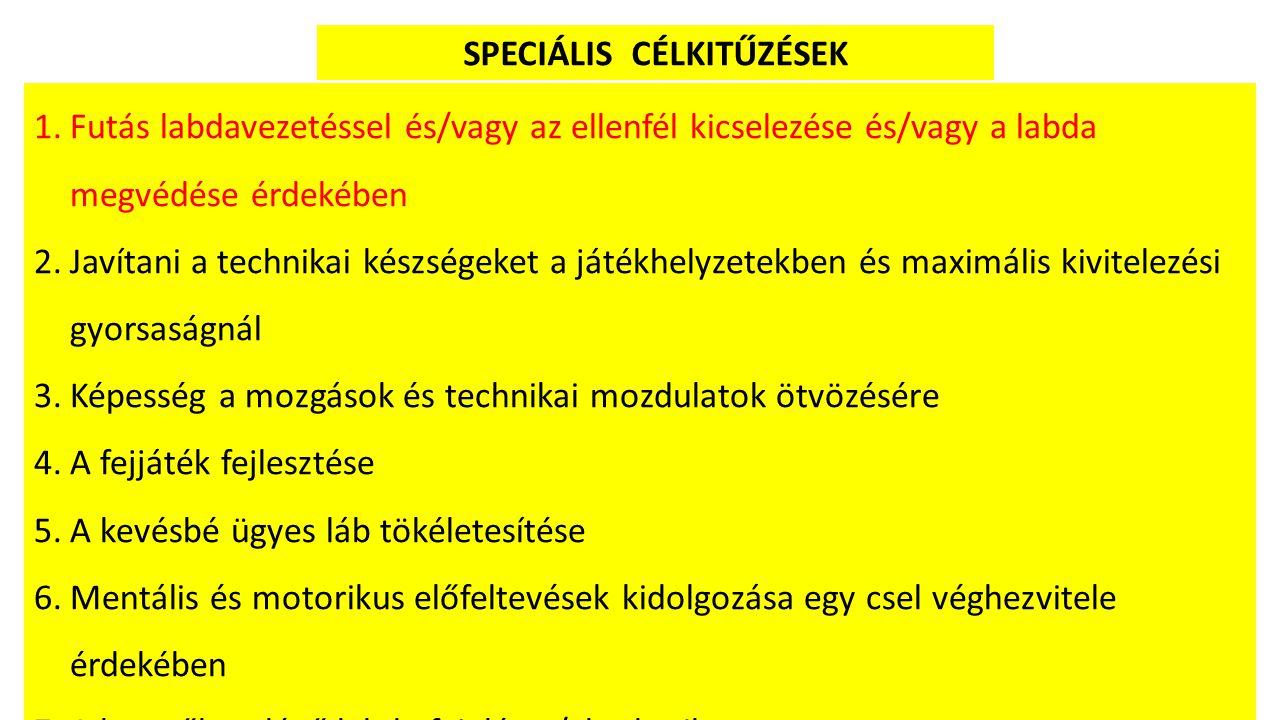 SPECIÁLIS CÉLKITŰZÉSEK