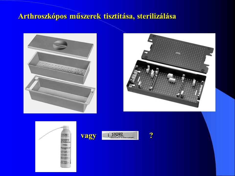 Arthroszkópos műszerek tisztítása, sterilizálása