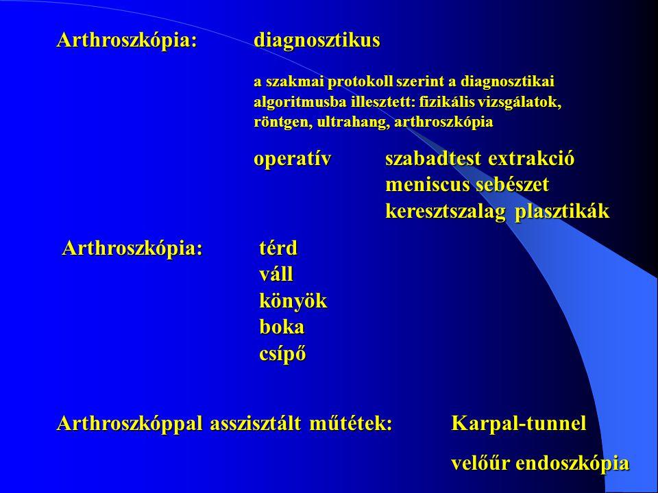 Arthroszkópia: diagnosztikus