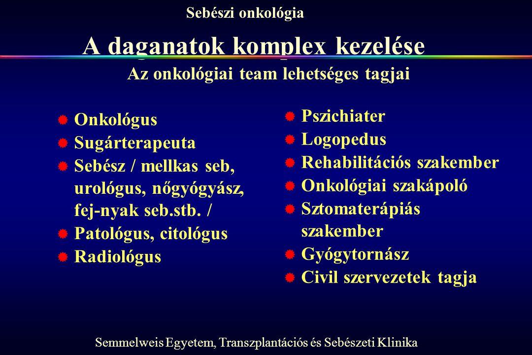 A daganatok komplex kezelése