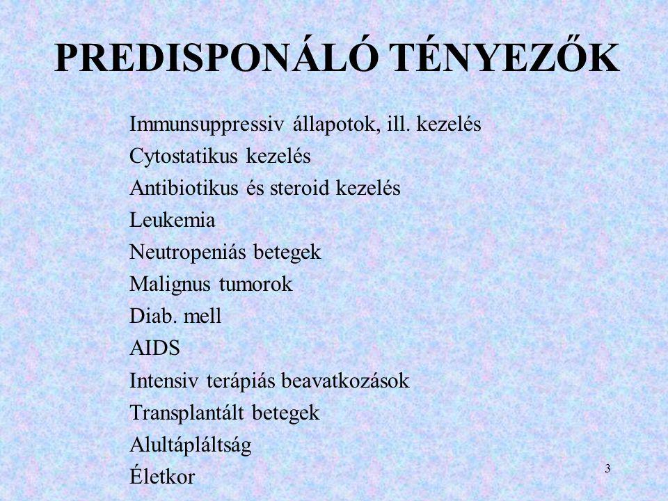 PREDISPONÁLÓ TÉNYEZŐK