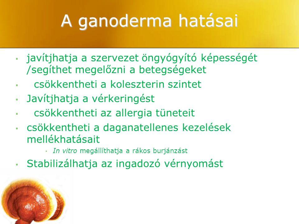 A ganoderma hatásai javítjhatja a szervezet öngyógyító képességét /segíthet megelőzni a betegségeket.