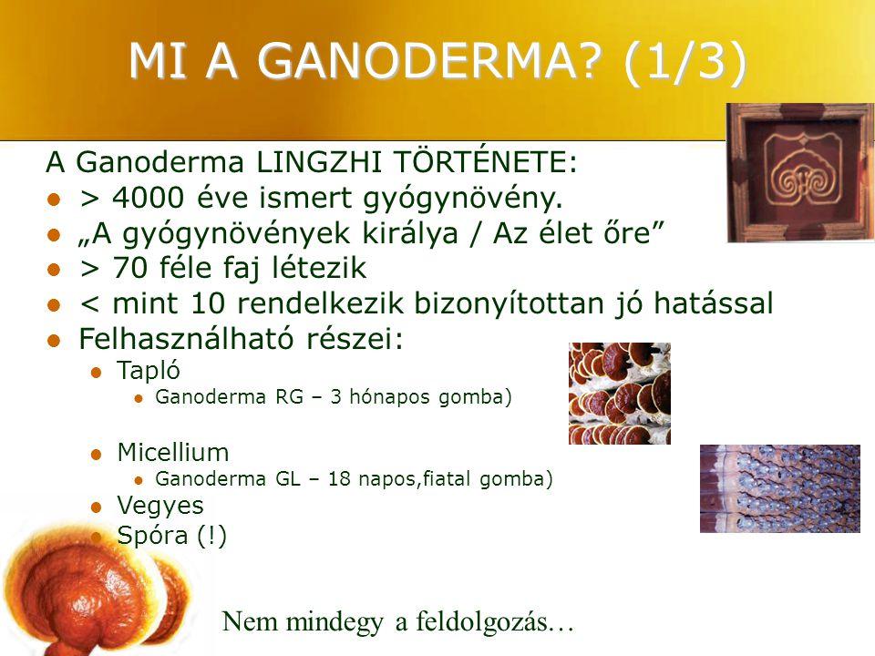 MI A GANODERMA (1/3) A Ganoderma LINGZHI TÖRTÉNETE: