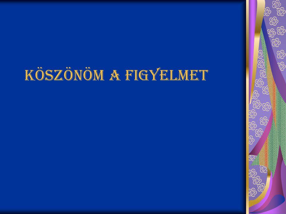 Köszönöm a figyelmet Készítette : Pákozdi Bettina 2010.03.07. 12/c