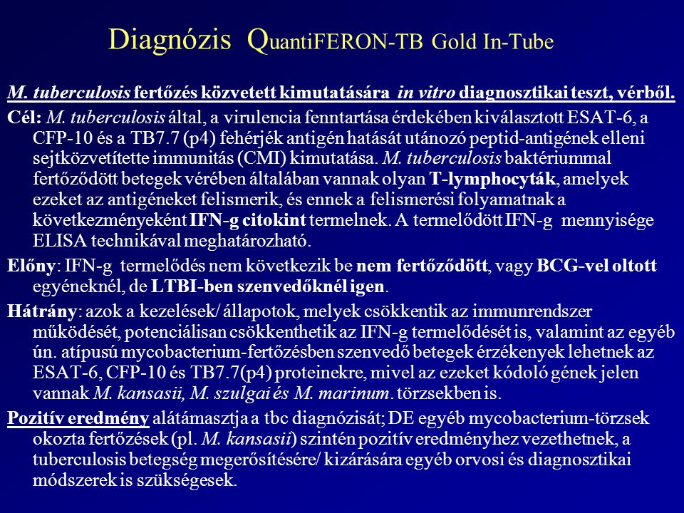 Diagnózis QuantiFERON-TB Gold In-Tube