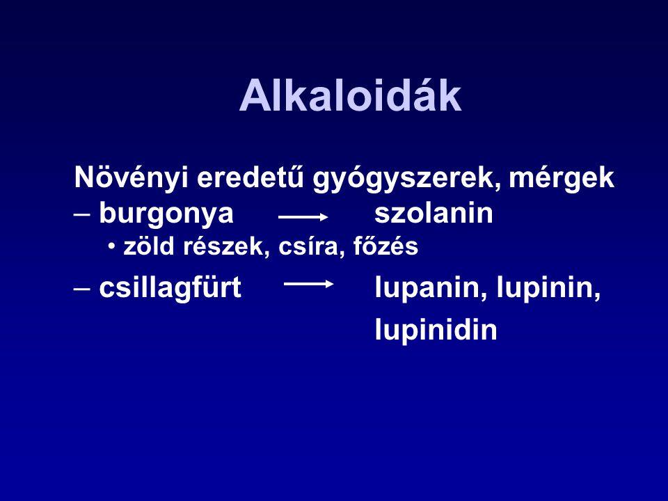 Alkaloidák Növényi eredetű gyógyszerek, mérgek burgonya szolanin