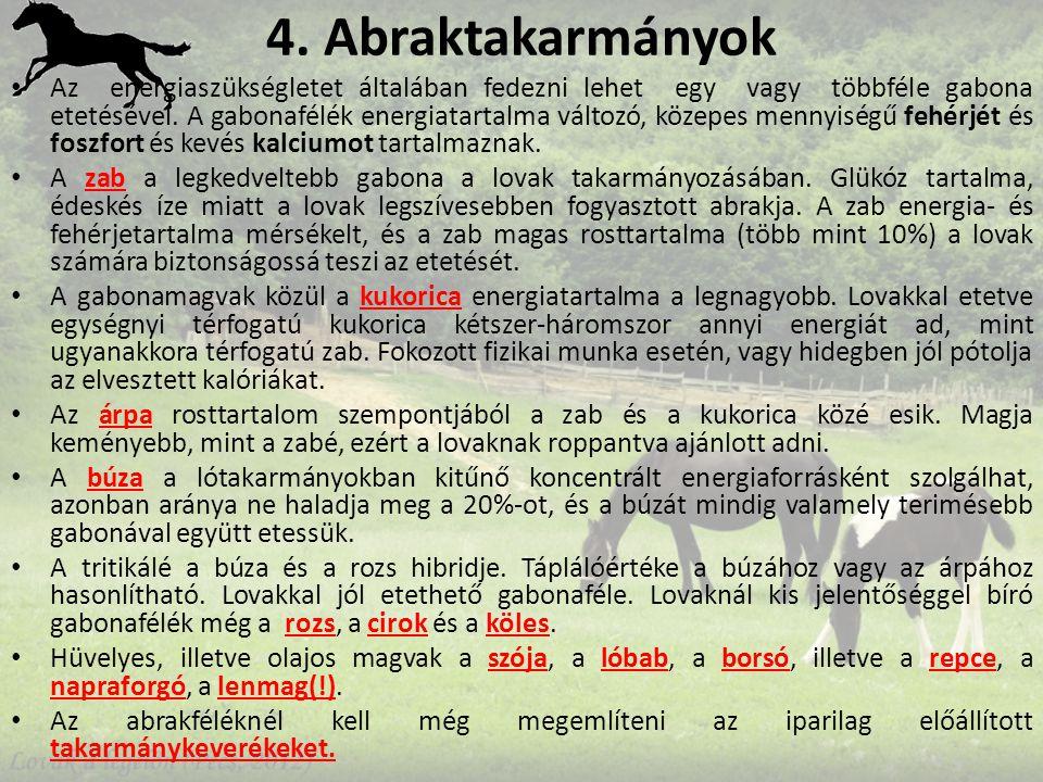 4. Abraktakarmányok