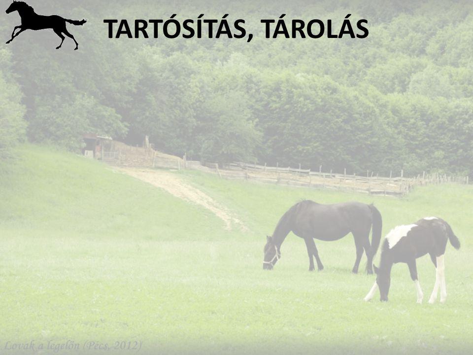 TARTÓSÍTÁS, TÁROLÁS