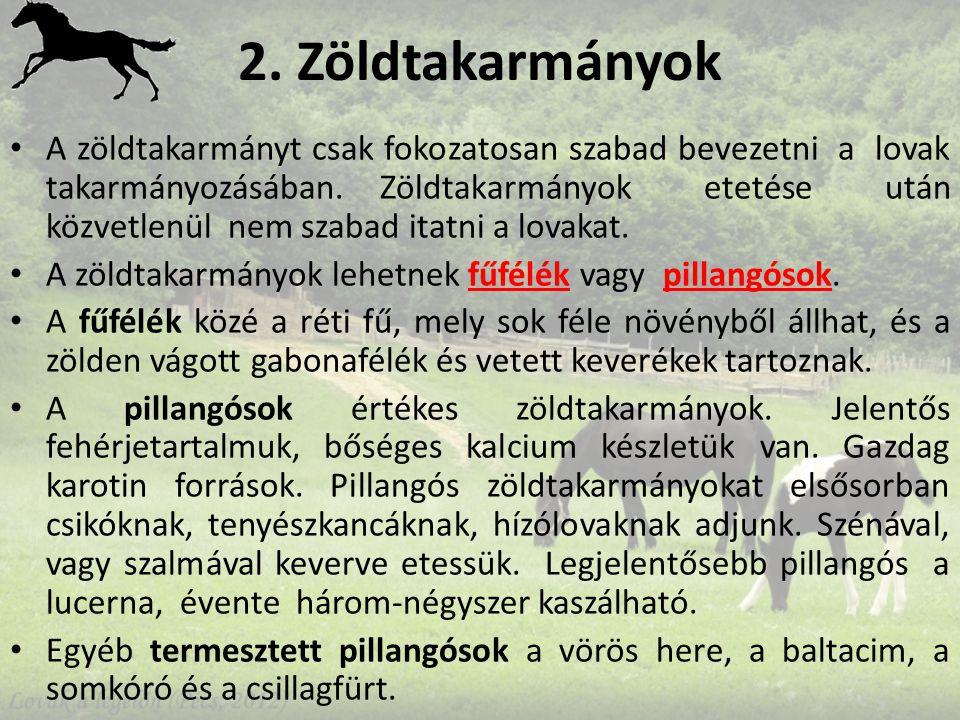 2. Zöldtakarmányok