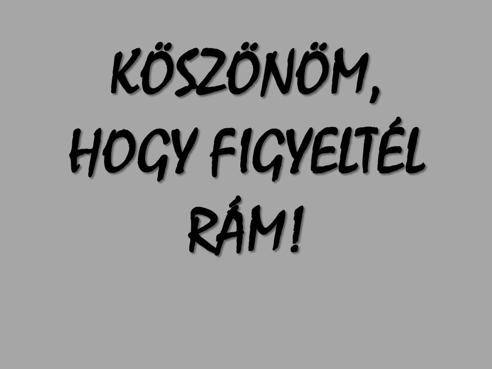 KÖSZÖNÖM, HOGY FIGYELTÉL RÁM!