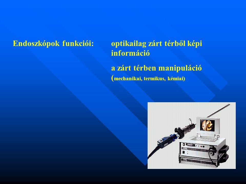 Endoszkópok funkciói: optikailag zárt térből képi információ