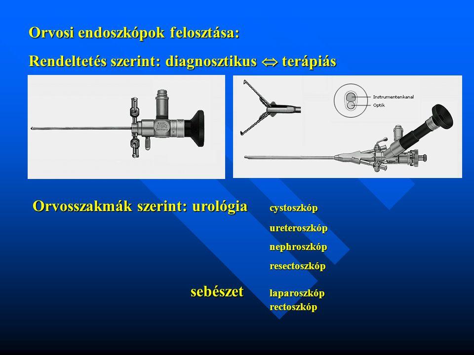 Orvosi endoszkópok felosztása:
