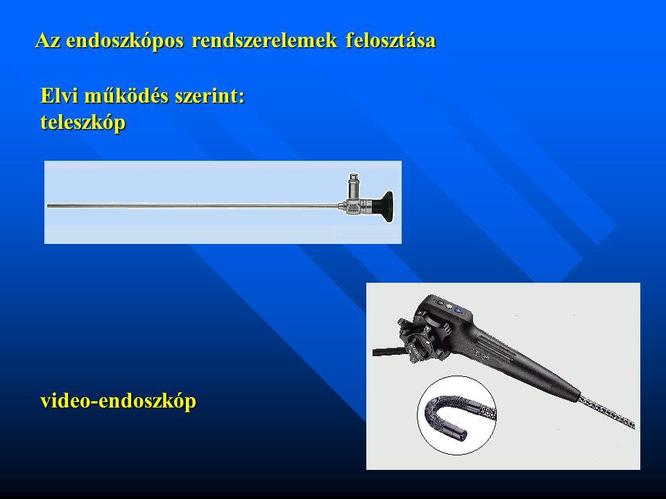 Az endoszkópos rendszerelemek felosztása