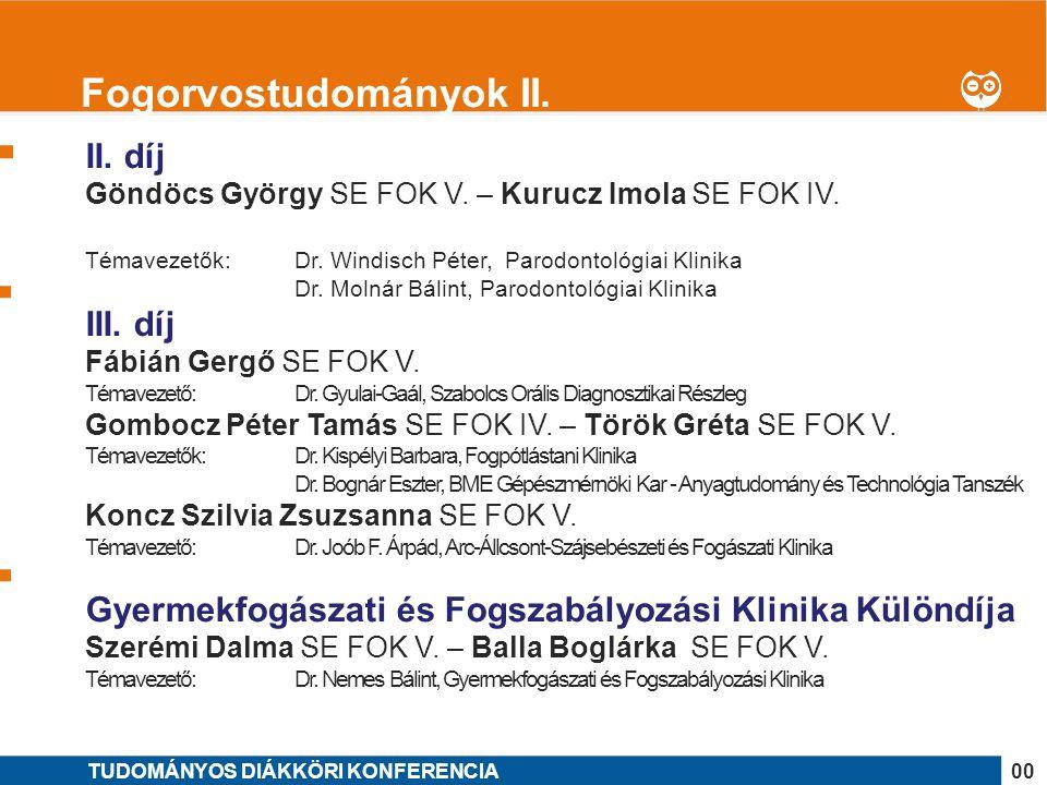 Fogorvostudományok II.