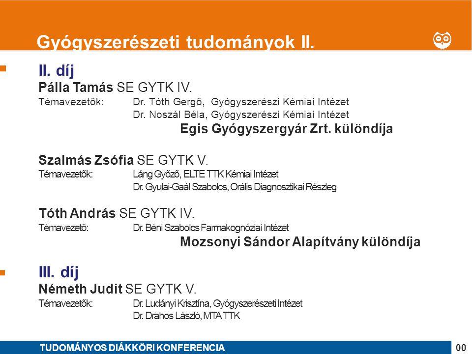 Gyógyszerészeti tudományok II.