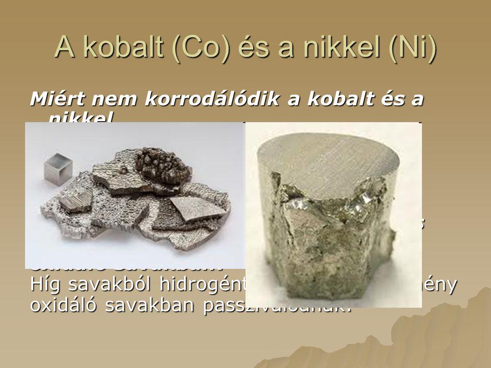 A kobalt (Co) és a nikkel (Ni)