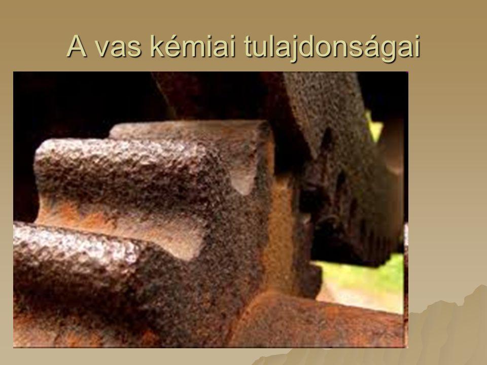 A vas kémiai tulajdonságai