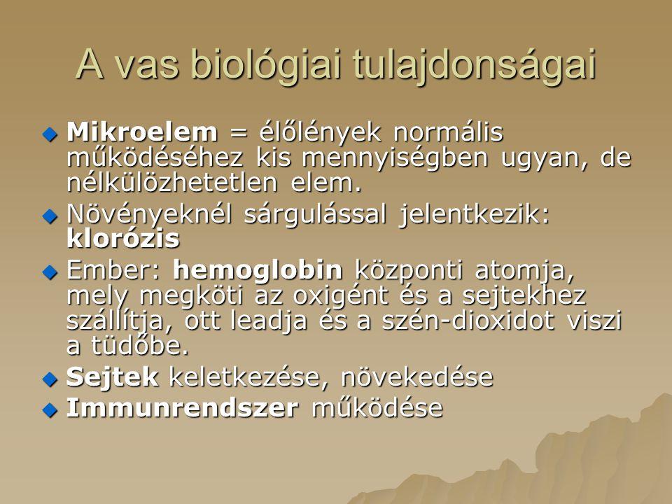 A vas biológiai tulajdonságai