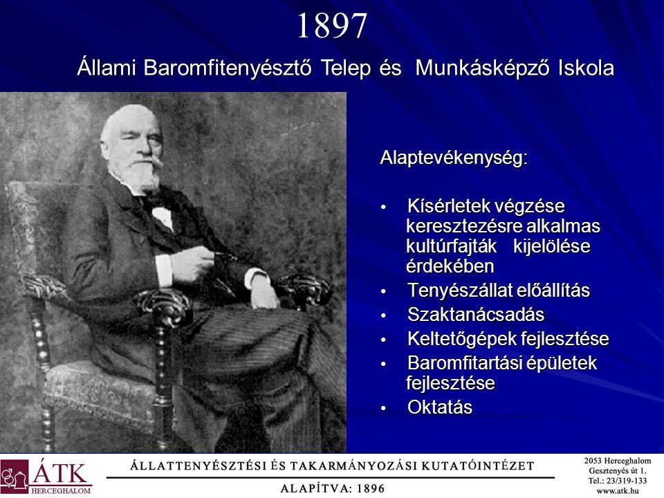 1897 Állami Baromfitenyésztő Telep és Munkásképző Iskola