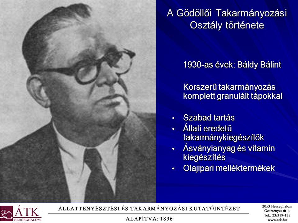 A Gödöllői Takarmányozási Osztály története