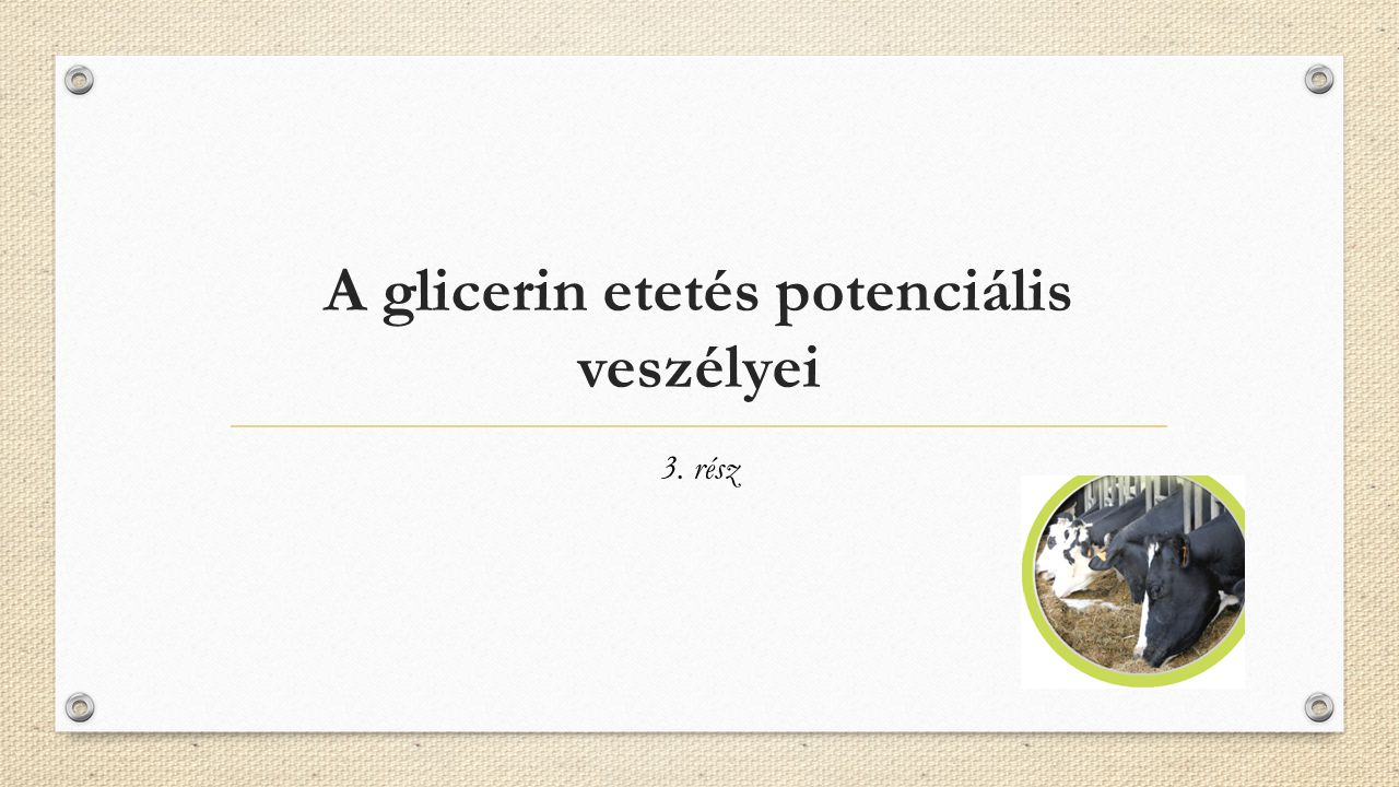 A glicerin etetés potenciális veszélyei