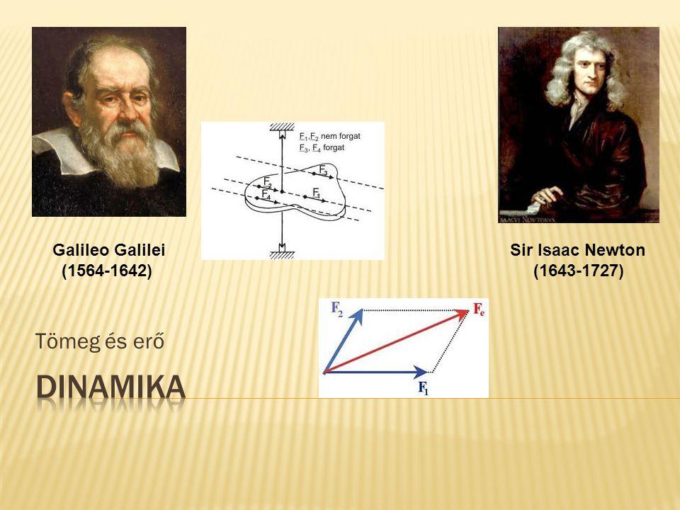 DINAMIKA Tömeg és erő Galileo Galilei (1564-1642) Sir Isaac Newton