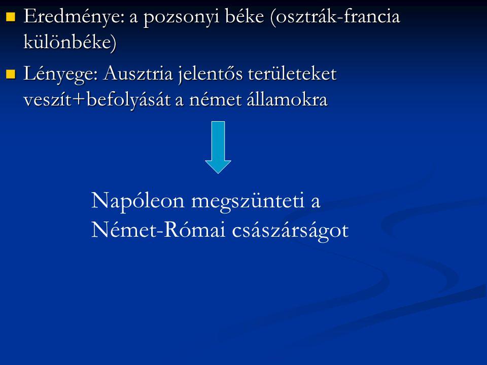 Napóleon megszünteti a Német-Római császárságot