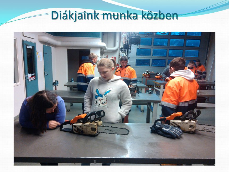 Diákjaink munka közben