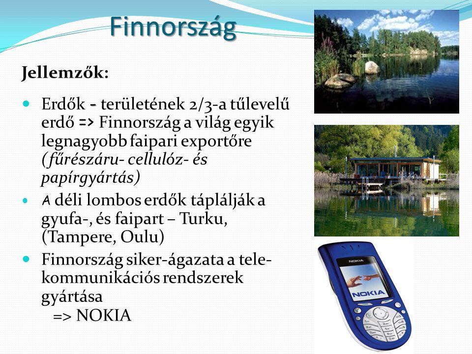 Finnország Jellemzők: