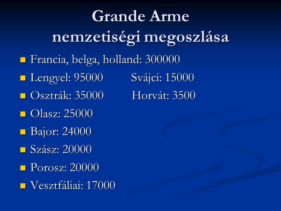 Grande Arme nemzetiségi megoszlása
