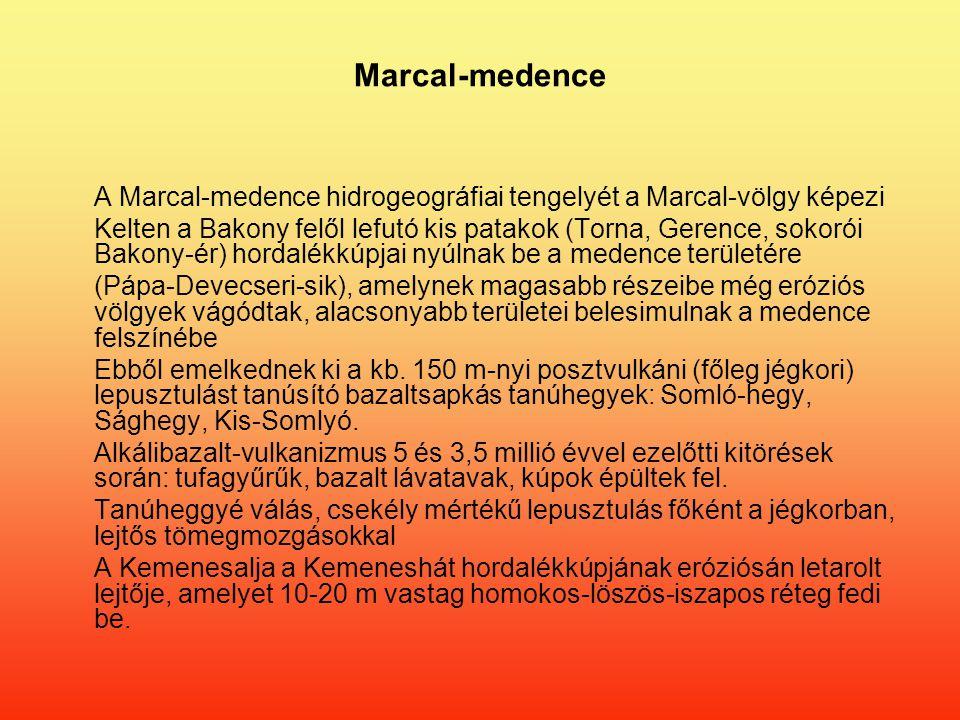 Marcal-medence A Marcal-medence hidrogeográfiai tengelyét a Marcal-völgy képezi.