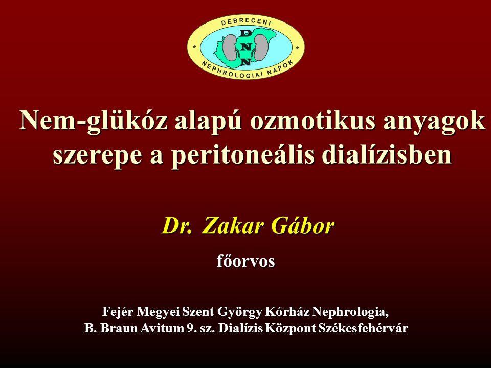 Nem-glükóz alapú ozmotikus anyagok szerepe a peritoneális dialízisben