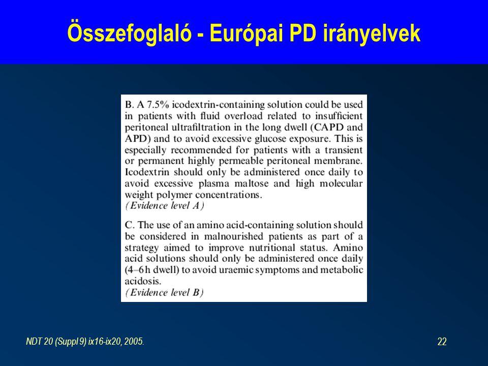 Összefoglaló - Európai PD irányelvek
