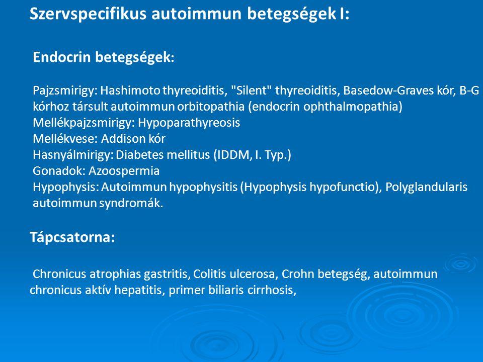 Szervspecifikus autoimmun betegségek I: