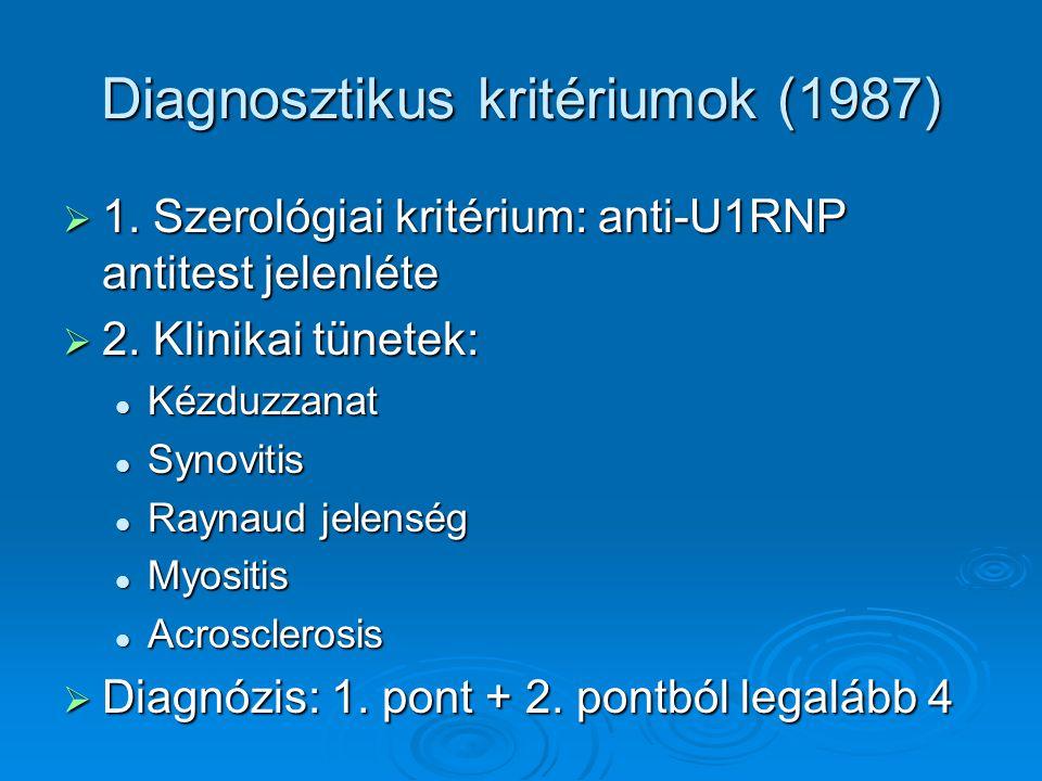 Diagnosztikus kritériumok (1987)