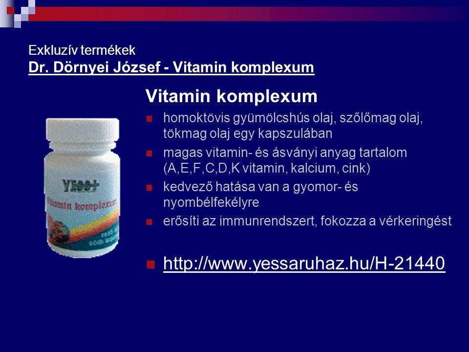 Exkluzív termékek Dr. Dörnyei József - Vitamin komplexum