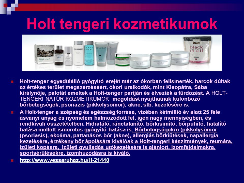 Holt tengeri kozmetikumok